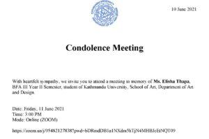 Condolence Meeting